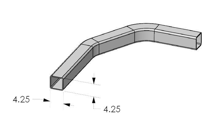 Kooima Company   Square Tube Bending Max Work Envelope