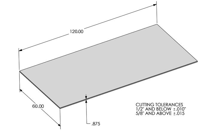 Kooima Company | Flat Laser Cutting Max Work Envelope
